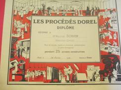 Diplôme/Les Procédés DOREL/ BODIER/ Margeur-Offset/25 Ans/Paris /1960         DIP177 - Diplomi E Pagelle