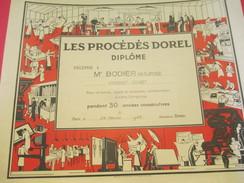 Diplôme/Les Procédés DOREL/ BODIER/ Margeur-Offset/30 Ans/Paris /1965         DIP178 - Diplomi E Pagelle