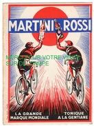 """Publicité Alcools Martini Et Rossi -Cyclisme-Tour De France 1935-Concours - Classement Du"""" Meilleur Grimpeur"""" Règlement - Ciclismo"""