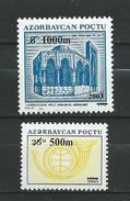 Azerbaijan 2003 Stamps Of 1994 Surcharged.MNH - Azerbaïjan