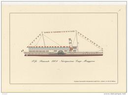 Alt474b Piroscafo Piemonte Navigazione Lago Maggiore Concordia Como Zanardelli Garda Nave Steamer Bateau à Vapeur - Bateaux