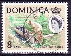 Dominica - Elisabeth II. - Einbaum (MiNr: 166) 1963 - Gest Used Obl - Dominica (...-1978)