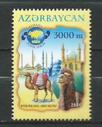 Azerbaijan 2004 The Great Silk Route.mosque.camel.MNH - Azerbaïjan