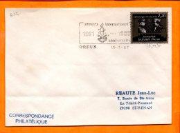 EURE ET LOIR, Dreux, Flamme SCOTEM N° 8172, 25e Anniversaire D'Amnesty International - Postmark Collection (Covers)