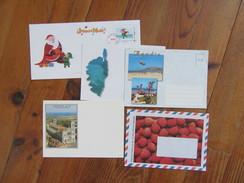 """Lot De 5 Enveloppes   Agadir, Nouvelle Calédonie, Vezelay, Corse, Et Une Enveloppe """" Joyeux Noël """" - Old Paper"""