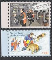 Liechtenstein 2013 Bevölkerungsschutz Hund  Zivilschutz  Mi# 1665-66 ** MNH - Liechtenstein