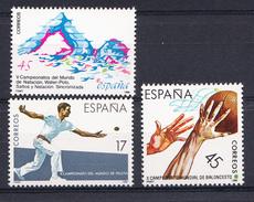 ESPAÑA 1986. EDIFIL Nº 2850/2852. DEPORTES . NUEVO. SIN CHARNELA .SES472GRANDE - 1981-90 Nuevos & Fijasellos