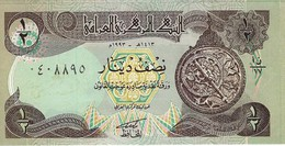 IRAQ 1/2 DINAR 1993 P-78a UNC BROWN & GREEN UNDERPRINT. [IQ335a] - Iraq