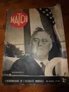 1939 MATCH:Roosevelt+++;Le Navire NORMANDIE Et Ses 3300 Habitants+++;Devant New-York;  GABIN Et Stars;La HOLLANDE; Etc - Magazines & Papers