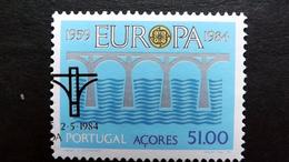 Azoren 364 Oo/ESST, EUROPA/CEPT 1984, Brücken