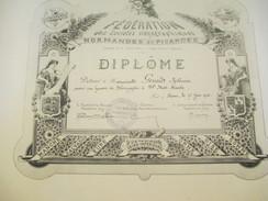 Diplôme/Sténographie/110 Mots Minutes/Fédération Des Soc. Sténographiques Normandes Et Picardes/GRAND/Rouen/1938  DIP183 - Diplomi E Pagelle