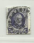 (693) Timbre Belgique Roi Albert I   N° 204 - 75c - 1922-1927 Houyoux