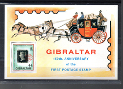 GIBRALTAR BLOC 14** SUR LES 150 ANS DU TIMBRE - Gibraltar