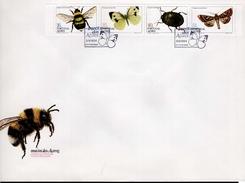Azoren FDC Heftchenblatt 4 365 - 368 C Insekten Used Gestempelt
