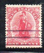 Y1930 - NEW ZELAND NUOVA ZELANDA  1908 , Gibbons N. 386 Usato . - 1855-1907 Colonia Britannica