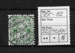 1906 ZIFFERMUSTER, Faserpapier Mit Wasserzeichen → SBK-82, SOLOTHURN 13.IX.08 - Oblitérés