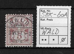 1906 ZIFFERMUSTER, Faserpapier Mit Wasserzeichen A → SBK-60A, WALD 3.VI.97