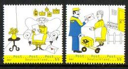 Allemagne Deutschland 2445/46 Facteur , Courrier