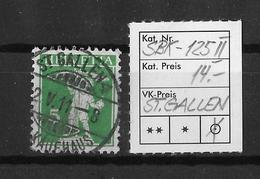 1909-1933 TELLKNABE MIT ARMBRUST→ SBK-125 II, ST.GALLEN 2.V.11 - Gebraucht