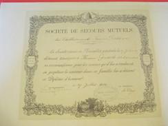 Diplôme/Honneur/Société De Secours Mutuels/Etablissements Firmin-Didot & Cie/GOUMAS/Mesnil Sur L'Estrée/Eure/1902 DIP187 - Diplomi E Pagelle