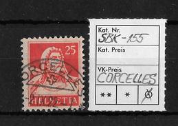 1914-1933 TELLBRUSTBILD → SBK-155, CORCELLES 2.IX.22 - Gebraucht