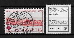 1939   75 JAHRE ROTES KREUZ → SBK-240, LANGNAU 30.X.39 - Gebraucht