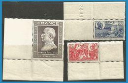 France 1944 606-608 Cdf ** Maréchal Pétain Agriculture Boeufs Charte Du Travail - Nuovi