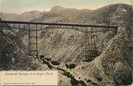Pays Div- Ref H403- Perou - Peru -ponts -pont -bridge -puente De Verruga A La Oroya   -postcard In Good Condition - Pérou