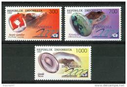 1997 Indonesia Gemme Gems Minerali Minerals Set MNH** Fo175 - Minerals