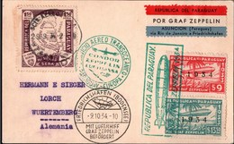 ! 1934, LZ 127 Luftschiff Graf Zeppelin, 9. Südamerikafahrt, Paraguay, Germany, Deutschland - Zeppelins
