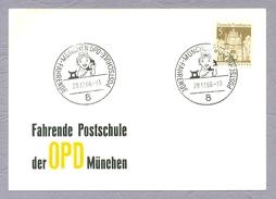 Germany, Deutschland, 1966, Fachrende Postschule Der OPD München Sonderstempel