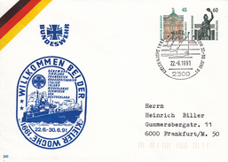 NPU 343 D2/4  Bundeswehr Willkommen Bei Der Kieler Woche 1991, Kiel 1 - Privé Briefomslagen - Ongebruikt