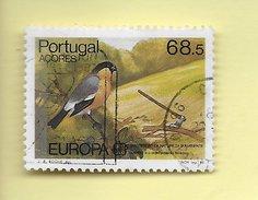TIMBRES - STAMPS - PORTUGAL (AÇORES) - 1986 - EUROPE CEPT - OISEAUX - PRIÔLO - TIMBRE OBLITÉRÉ