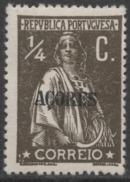 Açores – 1912 Ceres Type 1/4 Centavos