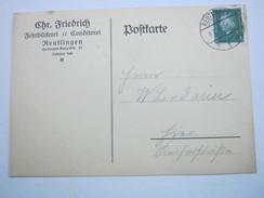 1931 , REUTLINGEN     ,klarer Stempel Auf Firmenkarte