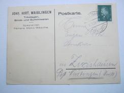 1929 , Stuttgart ,klarer Stempel Auf Firmenkarte