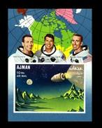 Ajman / Adschman: 'Apollo-7 In Space - Imperforated, 1968', Mi. BL 67 B **