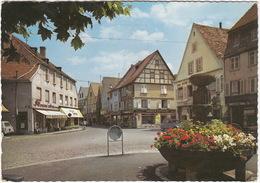 Haguenau: CITROËN 2CV, PEUGEOT 403 FAMILIALE, MOPED - Café - Quartier Pittoresque - (F.) - Turismo