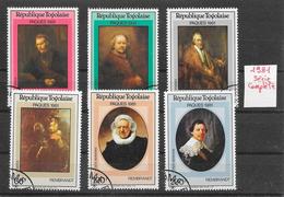 Art Peinture Rembrandt - Togo N°1014 à 1017 1981 O