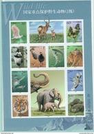 """China -Volksrepublik Kleinbogen Mi.-Nr.3115/3124** """"Bedrohte Tierwelt"""" Feinst/pracht"""