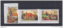 2009 Romania, Roumanie, Rumanien - UNESCO Old Heritage, Sighisoara Town 3v., Churches, Buildings Mi.6367/69  MNH
