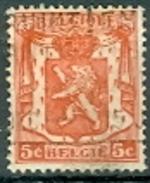 Belgien 1936 5 C. + 50 C. Gest. Wappen Löwe - 1929-1937 Heraldischer Löwe