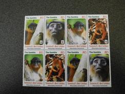 The Gambia 2016 - WWF Temminck's Red Colobus - Monkey - 2x Mint Set - 1st PRINT With ERROR - Neufs