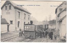 Martelange - La Station Du Vicinal - Animée - Tram à Vapeur Gros Plan - Edit. Victor Caën, Arlon - Tramways