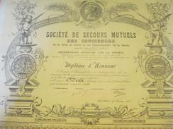 Diplôme/Honneur/Société Secours Mutuels Concierges De La Ville De Paris Et Du Département De La Seine/MOIX/1921   DIP189 - Diplomi E Pagelle