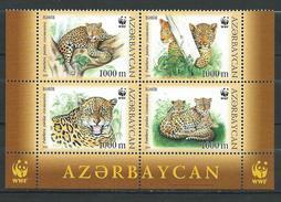 AZERBAIJAN 2005. WWF.Endangered Species - Leopards.Big Cats (cats Of Prey).MNH - Azerbaïjan