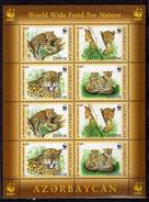 AZERBAIJAN 2005. WWF.Endangered Species - Leopards.Big Cats (cats Of Prey).M/S.MNH - Azerbaïjan