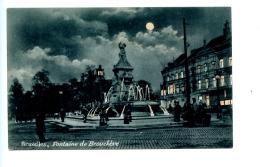 Bruxelles - Fontaine De Brouckère - Brussel Bij Nacht