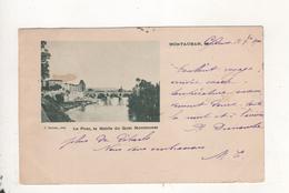 Montauban Le Pont La Mairie Du Quai Montmurat Precurseur 1900 - Montauban