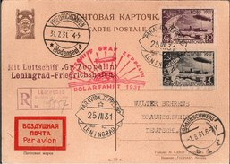 ! 1931, LZ 127 Luftschiff Graf Zeppelin, Polarfahrt, Rußland, Leningrad, Friedrichshafen, Braunschweig